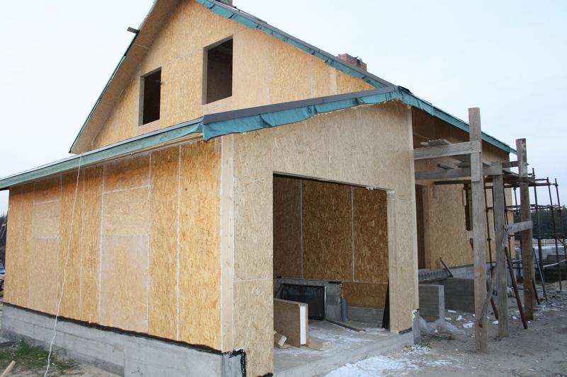 Деревянный панельно-каркасный дом