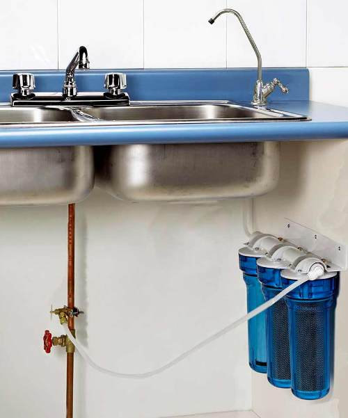 Bathroom sink water
